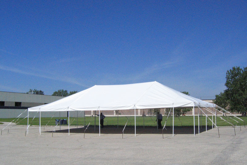 Wall-less tent